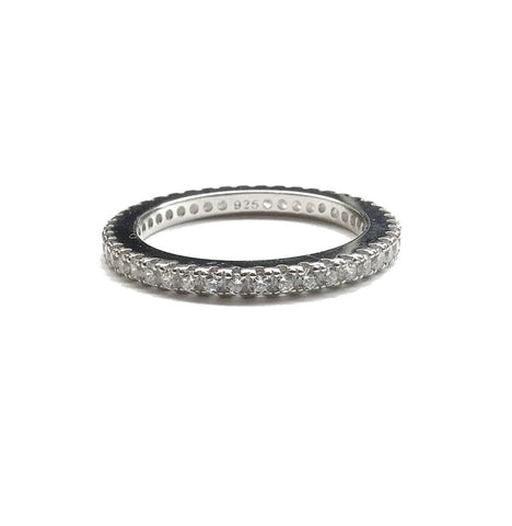 cubic zirconia wedding band