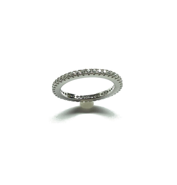 sparkly cubic zirconia eternity ring