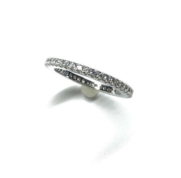 cubic zirconia diamond eternity wedding ring