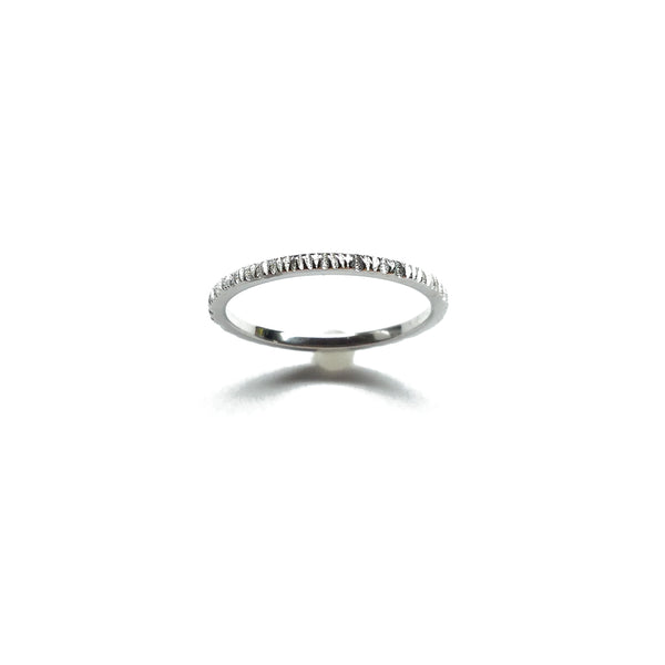 sterling silver thin stack ring band