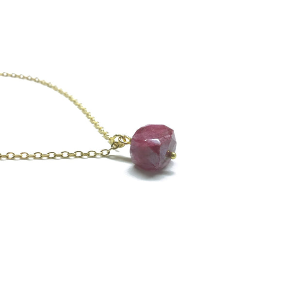 ruby moonstone necklace