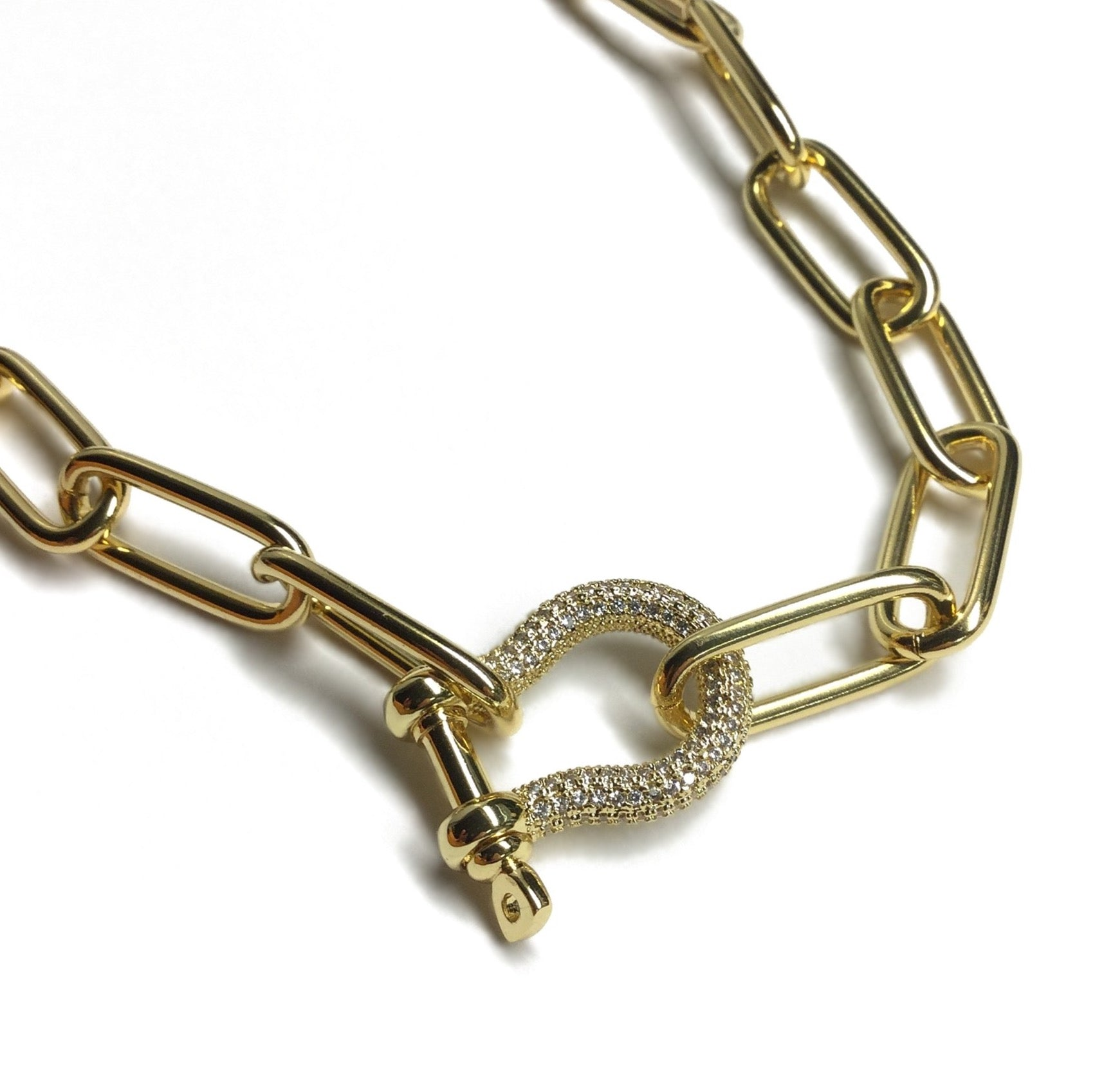 carabiner paperclip necklace