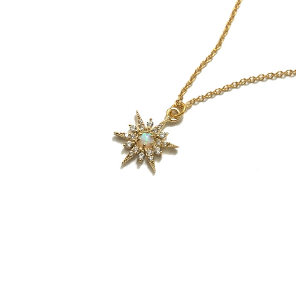 Opal Star Cubic Zirconia Necklace