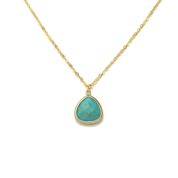 Gold plated Turquoise Howlite Necklace