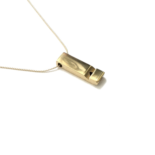 Medium Brass Whistle Necklace