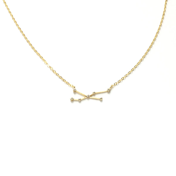 Gold plated Zodiac Cubic Zirconia Necklace