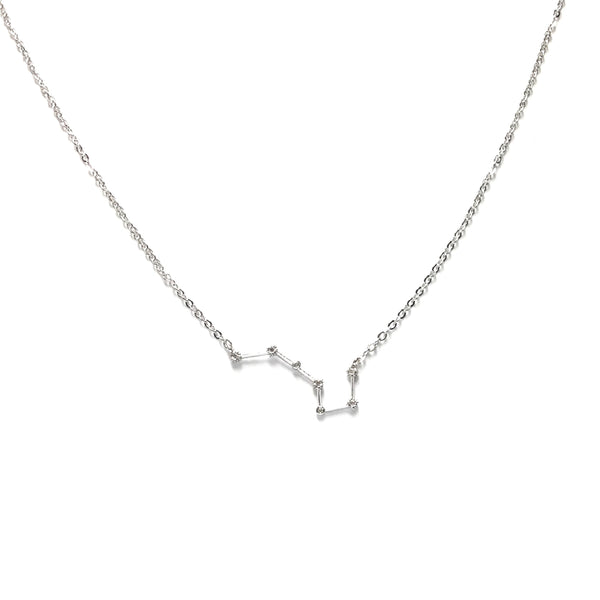 Silver plated Zodiac Cubic Zirconia Necklace