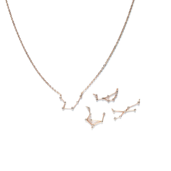 Rose Gold plated Zodiac Cubic Zirconia Necklace