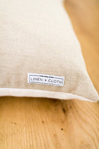 Kufri Cusco Stripe Designer Pillows in Sand // Striped Pillows