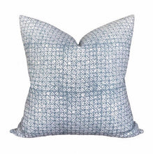 Load image into Gallery viewer, Walter G Batik Dusk Linen Pillow Cover // Light Blue Designer Throw PIllows