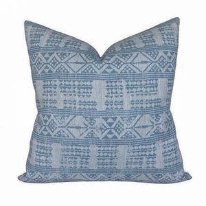 Peter Dunham Addis Designer Pillow Cover in Mist Blue // Decorative Pillow Cover