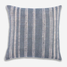 Load image into Gallery viewer, Designer Clay McLaurin Drift Pillow Cover in Mineral // Blue Gray Striped Throw Pillow