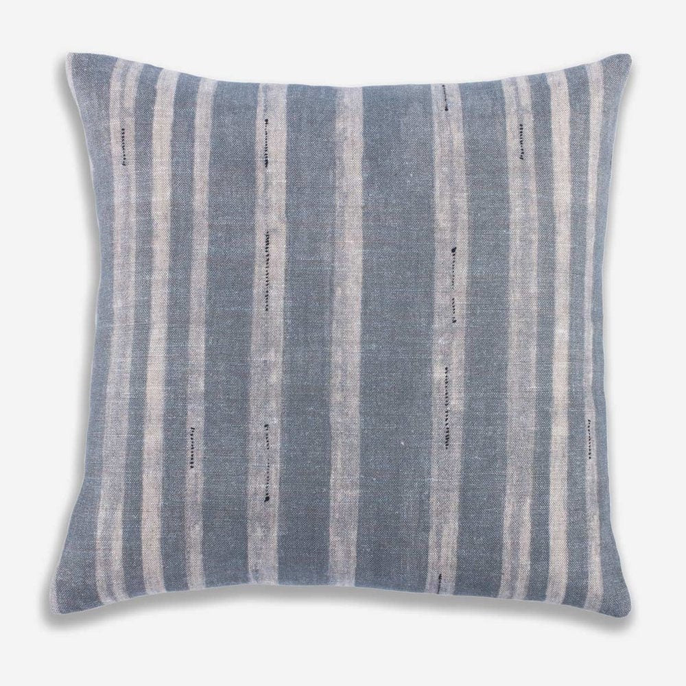 Designer Clay McLaurin Drift Pillow Cover in Mineral // Blue Gray Striped Throw Pillow