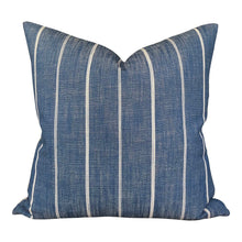 Load image into Gallery viewer, Designer 'Fritz Washed' in Denim Pillow Cover  //Indigo Blue Throw Pillows