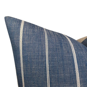 Designer 'Fritz Washed' in Denim Pillow Cover  //Indigo Blue Throw Pillows