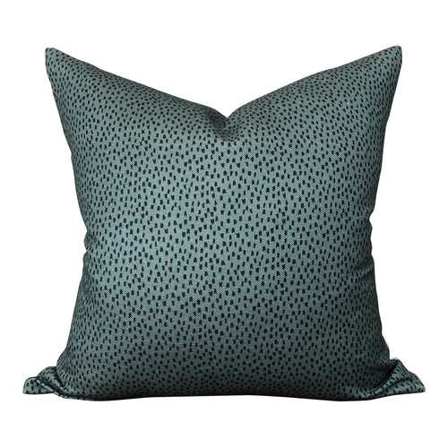 Designer Clay McLaurin Shibori Pillow Cover in Fern // Green Polka Dot Throw Pillow