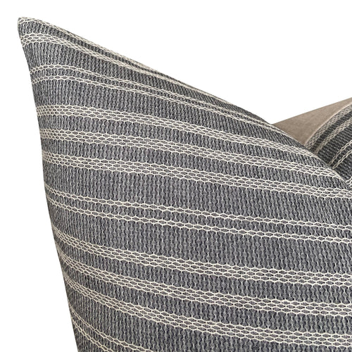 Chiangmai Native Cotton Gray and White Woven Stripe