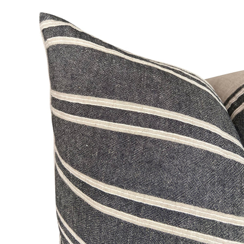 Chiangmai Native Cotton Charcoal Stripe