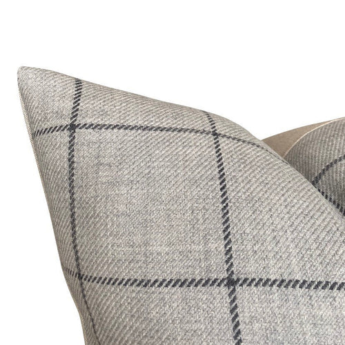 Designer Bancroft Wool Plaid in Fog