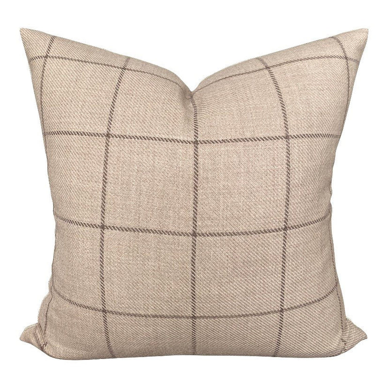Designer Bancroft Wool Plaid in Malt