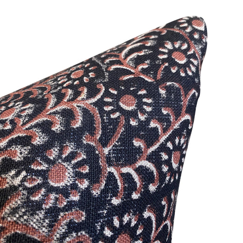 Kochin Pillow Cover in Noir Saffron