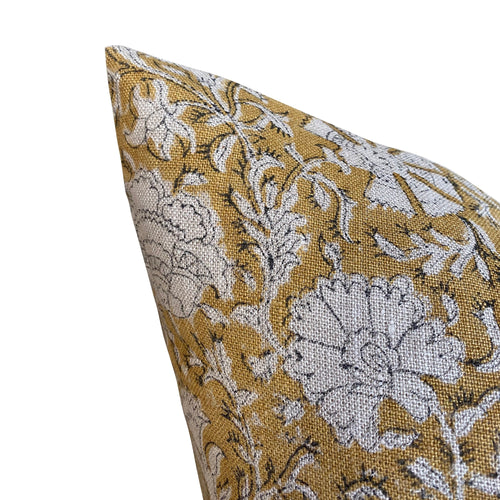 Nisa Pillow Cover in Mustard