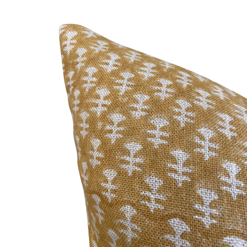Boti Pillow Cover in Mustard