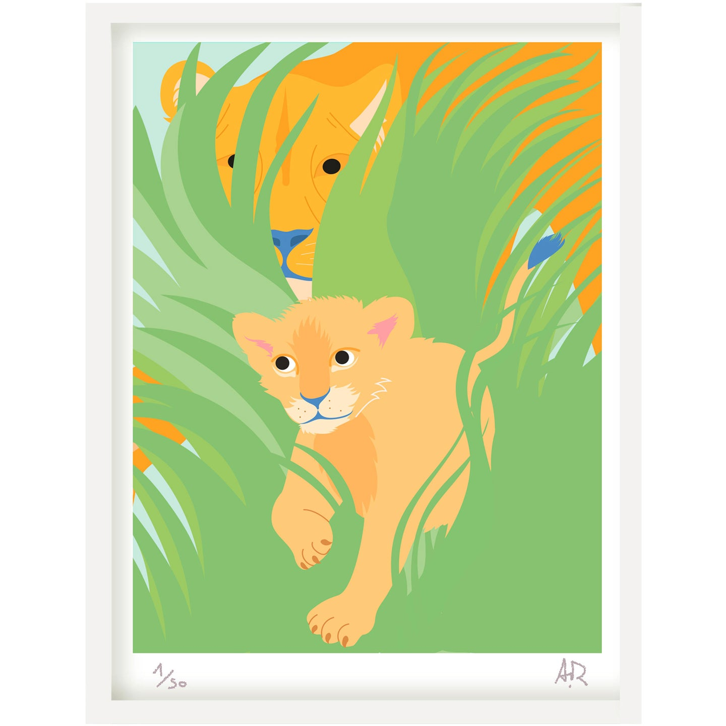 Art print Lion de Alice Ricard