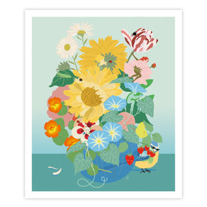 le bouquet, illustration enfant, art print