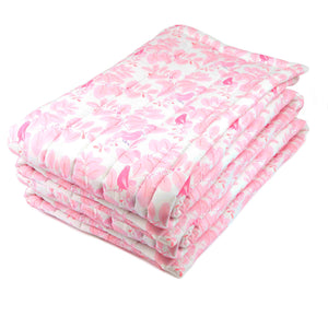 Grand plaid en coton Songe rose