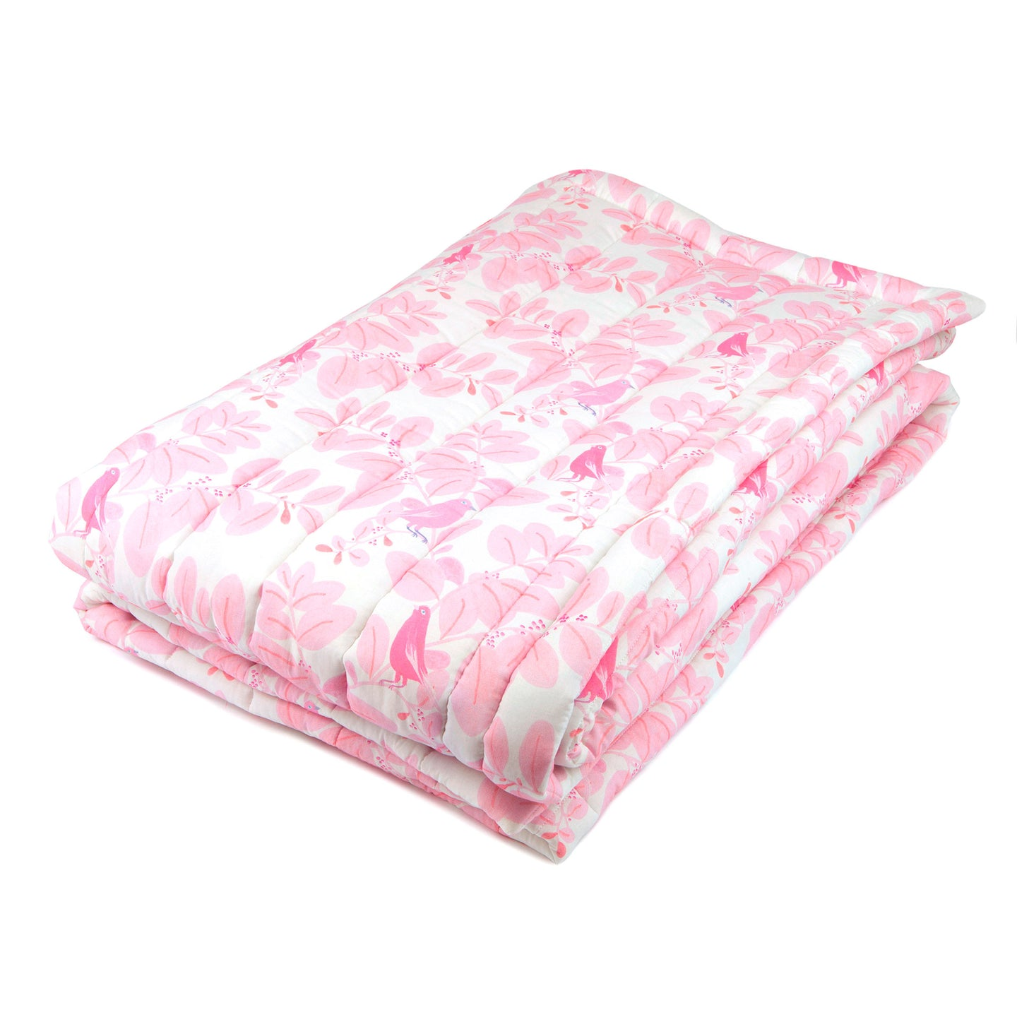 Plaid songe rose en coton