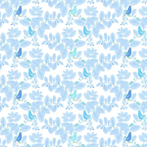 detail pattern songe bleu