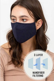 3 Layer reusable face mask with filter pocket