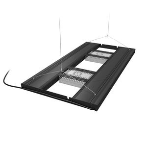 """Aquatic Life T5HO G2 Hybrid"" High Output Black 36"" Long 4x39W T5 Bulb Lighting Fixture (comes with 4 LED Mounting Brackets for 2 EcoTech or AI LED Fixtures and Cable-Hiding Decor Endcaps)"