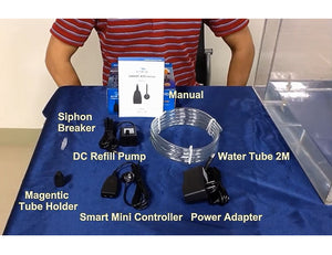 """Smart ATO Micro"" Penny-Sized Miniature Auto Top Off System to Safely Automate Water Level Consistency (comes with Mini DC Pump)"
