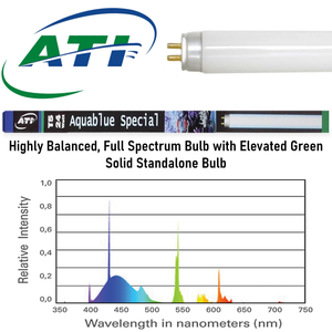 """Aquablue Special 54W"" Highly Balanced Full Spectrum 45.8""L Standalone T5 Bulb (for 48"" T5 Fixtures)"