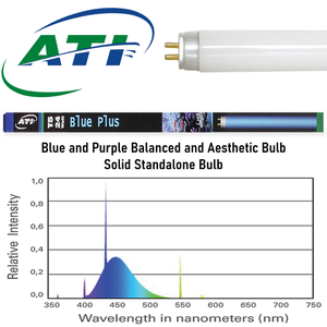"""Blue Plus 54W"" Blue and Purple Visually Blended 45.8""L Standalone T5 Bulb (for 48"" T5 Fixtures)"