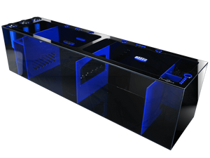 """Signature Series 60"" Multicolor Full Sump Setup with 2 Adjustable Flow Gates, 5 Cord Management Cutouts, and 12 Dosing Inputs (60""L x 15""D x 16""H)"
