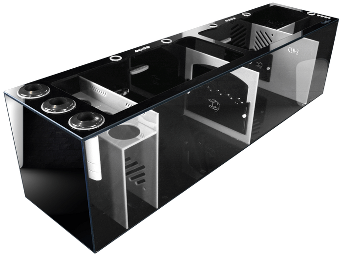 """Signature Series 60"" Multicolor Full Sump Setup with 2 Adjustable Flow Gates, 5 Cord Management Cutouts, and 12 Dosing Inputs (60"