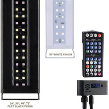 """Serene Sun RGB+W Black"" Freshwater LED Ambient Chromotherapy Aquarium Light with Controller (Available in 24"", 36"", 48"" and 72"" Long┃Color = Black)"