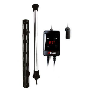 """HMS 100W"" Remote Out-Of-Water Auto Shutoff Probe, Temp Calibration-Ready, Virtually Unbreakable and Corrosion-Resistant Titanium Heater with Precision Temperature Controller (Recommended Tank Size = 20-30 Gallons)"