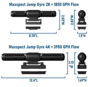 """Maxspect Jump Gyre 2K"" Programmable, High Flow Gyre Pump (Max Flow Rate = 1850 GPH)"