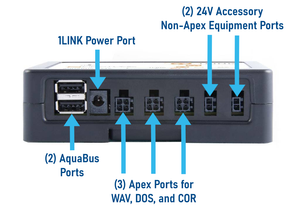 """Apex 1LINK"" Single Outlet Connection and Power Interface for Apex WAV Powerheads, DOS Dosing Pumps, and COR Return Pumps"