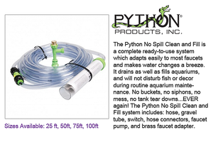 "Python ""No Spill"" Clean and Fill Easy Water Change System - 50 ft. Full Assembly Kit"