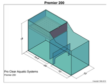 "Pro Clear Premier Series 200 Wet/Dry Filtration System (up to 800 GPH; 29""L x 12""W x 18""H) - Dual Input"
