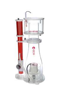 """Elite 150 SSS"" APEX-Ready, DC Controllable, Space Saving Protein Skimmer with Internal Pump, Skimmer Cup Float Switch Shutoff, and Ozone Compatibility"