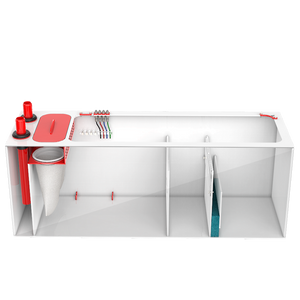 """Red Flex Reef 600"" All-in-One Reef Ready Filtration Sump System (60""L x 18""W x 20""H┃Limited Lifetime Warranty)"