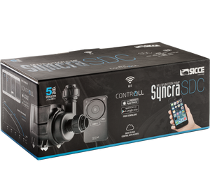 """Syncra SDC 6.0"" DC and WiFi Controllable Multi-Purpose Pump with 5 Year Warranty and Real-Time Alerts (Adjustable Flow = 530-1450 GPH┃Max Head = 11.5 ft)"