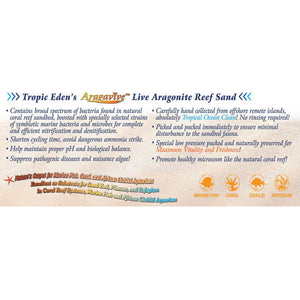 Tropic Eden Special Pink 1.8mm Marine-Originated LIVE Aragonite Reef Substrate - 20 lbs