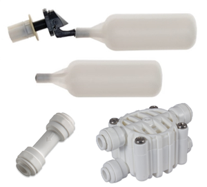 Two Tides RODI Water Level Regulator Kit - Float Valve, Head Replacement, Auto Shutoff Valve, and Check Valve